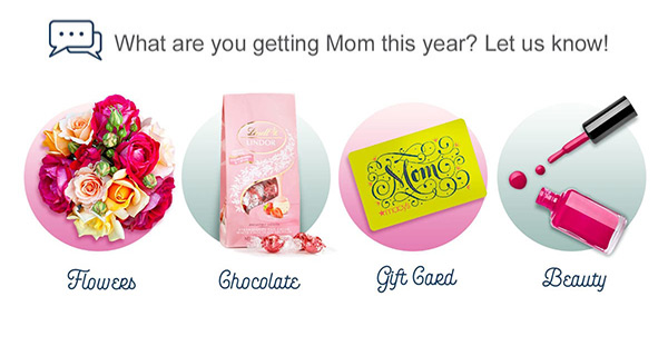 Mother's Day gift poll. Click to participate.